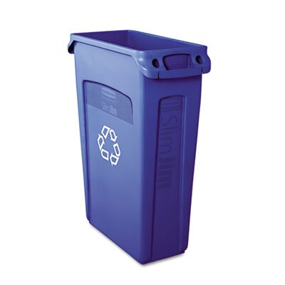 Rubbermaid Commercial Products Slim Jim Recycling Container with Venting Channels, 23 Gal