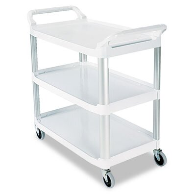 Rubbermaid Commercial Products Open Sided Utility Cart, 3-Shelf