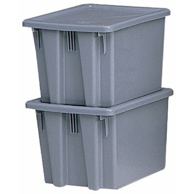Rubbermaid Commercial Products Stack & Nest Palletote Boxes 1.3Cu.Ft. Palletote Boxgray  19-1/: 640-1721-Gray - 1.3cu.ft. palletote boxgray  19-1/