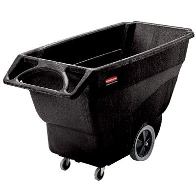 Rubbermaid Commercial Products Structural Foam Tilt Trucks - black 1/2 cubic yard utility tilt truck 450# cap