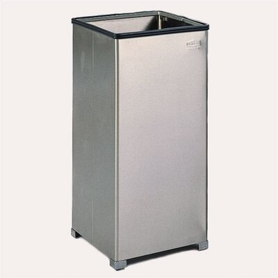 Rubbermaid Commercial Products Medium Open Top Stainless Steel Receptacle
