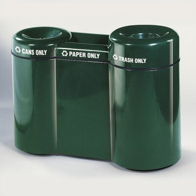 Rubbermaid Commercial Products Barclay Large Capacity Three Section Recycling Center
