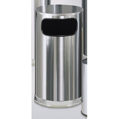 Rubbermaid Commercial Products Metallic Designer 12 Gal. Waste Receptacle