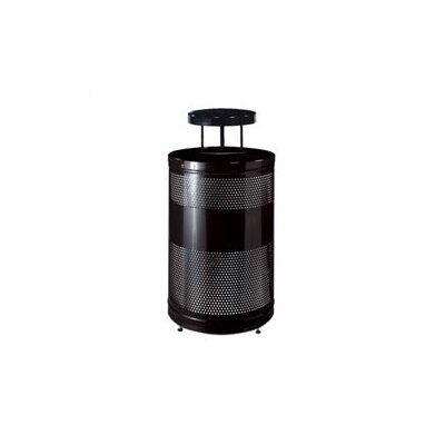 Rubbermaid Commercial Products Howard Classics Open Top Waste Receptacle with Weather Shield