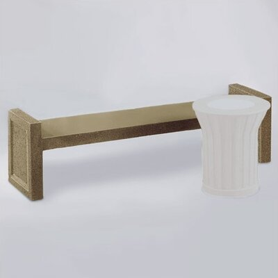 Rubbermaid Commercial Products Keystone Stone Garden Bench