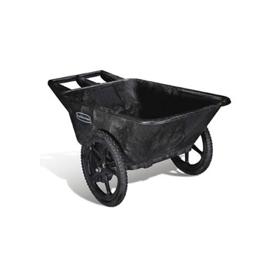 Rubbermaid Commercial Products Big Wheel Agriculture Cart in Black