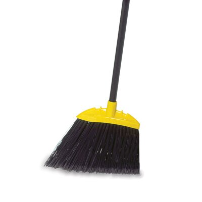 Rubbermaid Commercial Products Jumbo Smooth Sweep Angled Broom in Black and Yellow