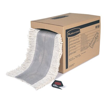 Rubbermaid Commercial Products Cut To Length Cotton Dust Mops in White