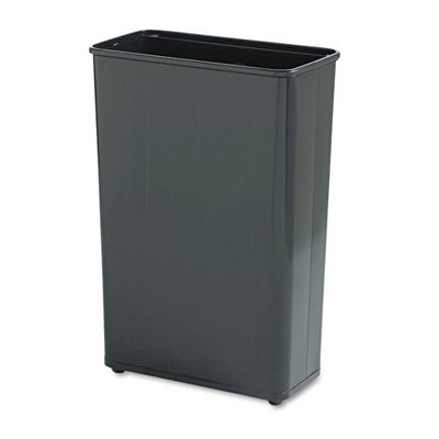 Rubbermaid Commercial Products Fire-Safe Rectangular Steel Wastebasket in Black