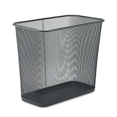 Rubbermaid Commercial Products Rectangular Steel Mesh Wastebasket in Black
