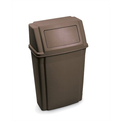 Rubbermaid Commercial Products Slim Jim Wall Mounted Waste Container - 15 Gallon