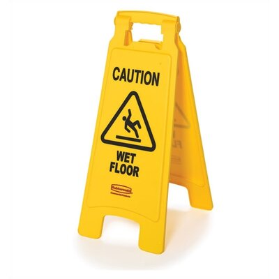 "Rubbermaid Commercial Products Floor Safety Sign with Multi-Lingual ""Caution"" Logo"