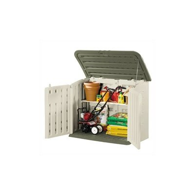 Rubbermaid Commercial Products Large Horizontal Outdoor Storage Shed