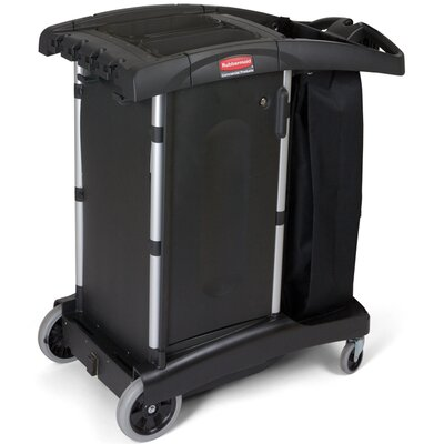 Rubbermaid Commercial Products Compact Turndown Housekeeping Cart in Black