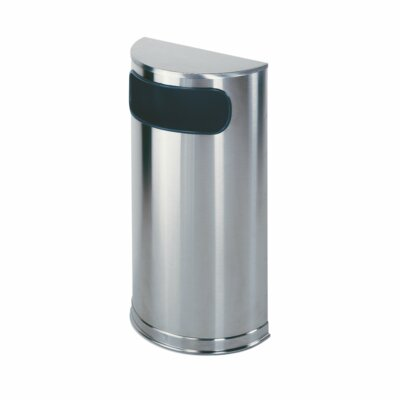 Rubbermaid Commercial Products European Designer Metallic Half Round Receptacle