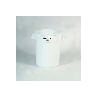 Rubbermaid Commercial Products Brute Refuse Container, Round, Plastic, 20 Gallon