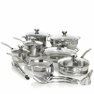 Wolfgang Puck® Bistro Elite 18 Piece Cookware Set