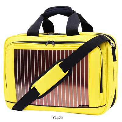 "Eco Traveler 17"" Expandable Solar Laptop Briefcase"