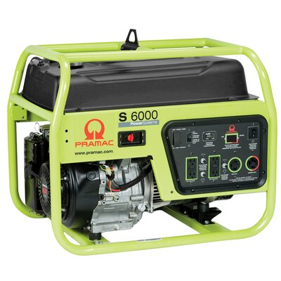 Pramac 6000 Watt Portable Gas Generator with Recoil Start