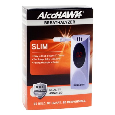 Quest Products Inc AlcoHAWK Slim Breathalyzer, Digital Breath Alcohol Tester