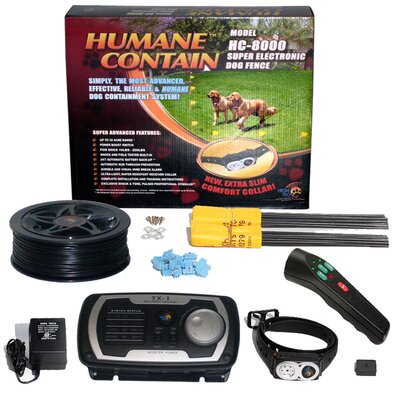 High Tech Pet Extra Value Combo Systems Humane Contain Dog Electric Fence and Sonic Trainer
