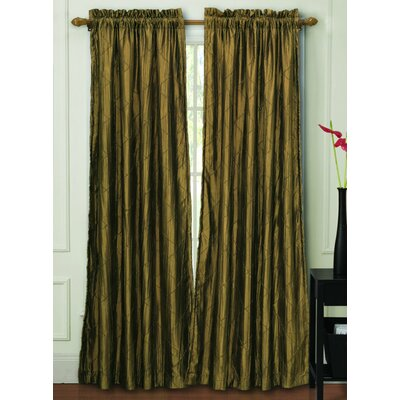 United curtain co batiste half rod pocket door curtain single panel