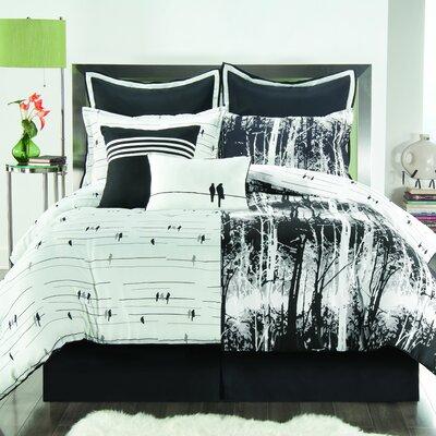 Victoria Classics Woodland Comforter Set In Black Amp White