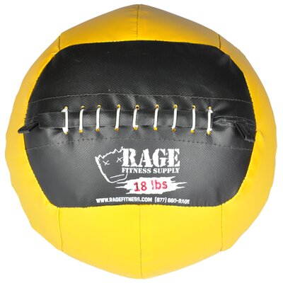 Muscle Driver USA 18 lb Rage Ball in Yellow