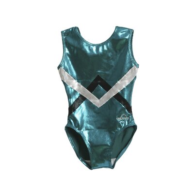 Kids Chevron Gymnastics Leotard