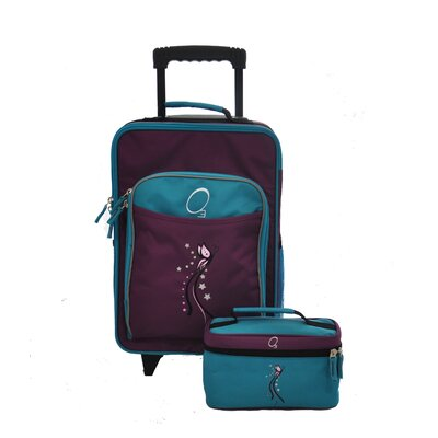Obersee O3 Kids Butterfly Luggage and Toiletry Bag Set