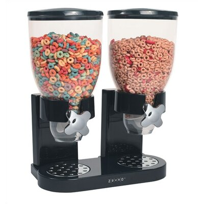 Zevro Dry Food Dual Dispenser in Black