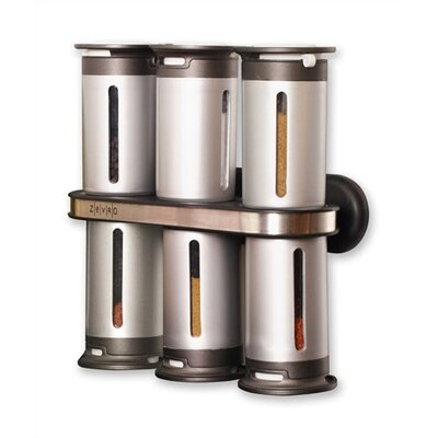 Zevro Zero Gravity Wall Mount Magnetic Spice Set - 6 canister