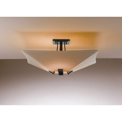 "Hubbardton Forge Vortis 8.8"" 4 Light Semi Flush Mount"