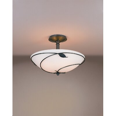 Hubbardton Forge Leaf Large 3 Light Semi Flush Mount
