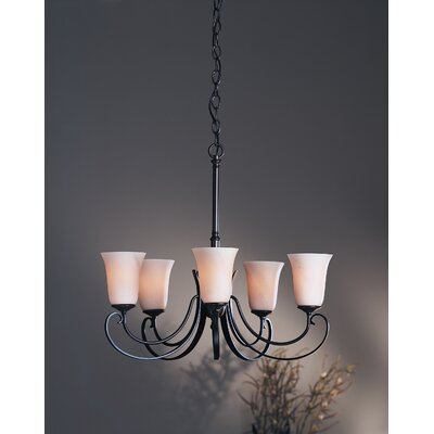 Hubbardton Forge Scroll 5 Light Chandelier