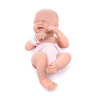 "JC Toys La Newborn - 14"" Closed Eyes Real Girl Vinyl Doll"