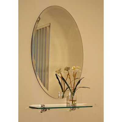Spancraft Glass Regency Oval Frameless Mirror