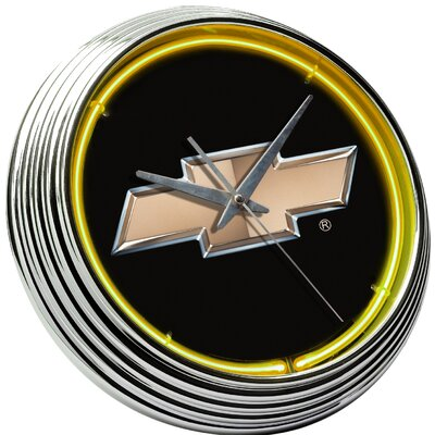 "On The Edge Marketing Chevrolet 14.75"" Bowtie Neon Wall Clock"