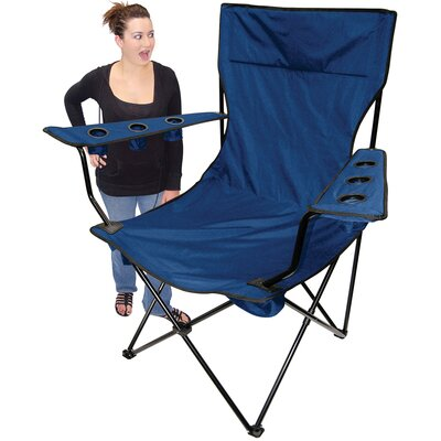 On The Edge Marketing Outdoor King Pin Folding Chair in Blue