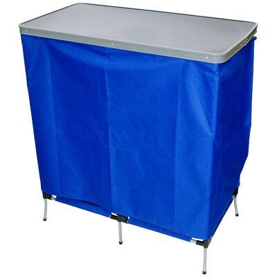 Outdoor Folding Portable Serving Station in Blue
