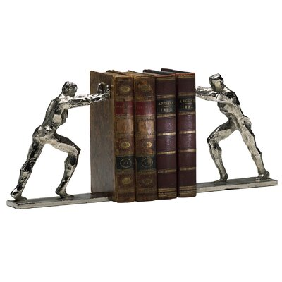 Cyan Design Iron Man Bookends in Silver