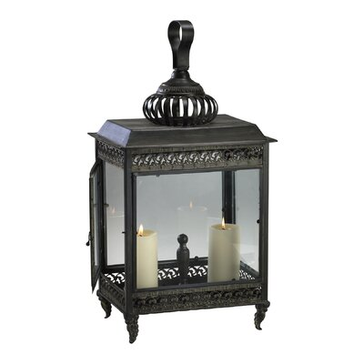 Cyan Design Iron and Glass Classic Candle Lantern