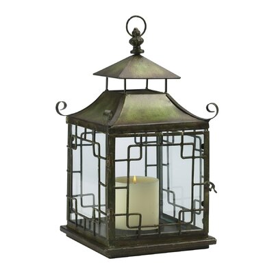 Cyan Design Iron and Glass Pagoda Candle Lantern