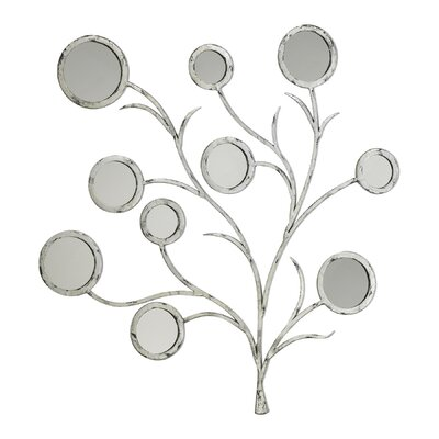 Flora Mirror in Distressed Silver