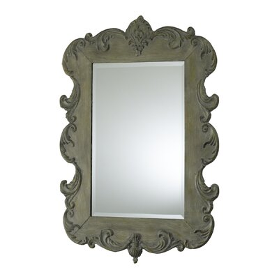 Vintage French Mirror in Oyster Silver