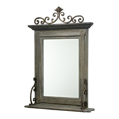 Anderson Mirror in Distressed Gray and Golden Antiqua