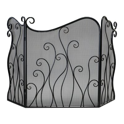 Evalie 3 Panel Iron Fireplace Screen
