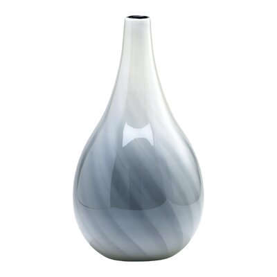 Cyan Design Large Petra Vase in White and Smoked