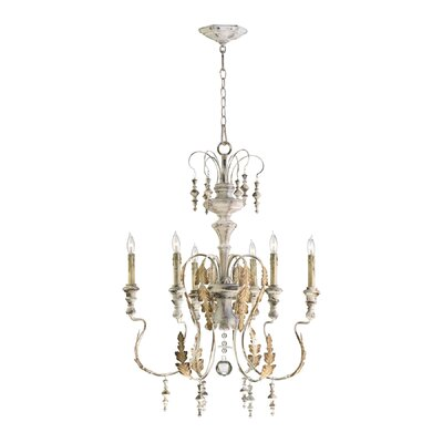 Motivo Six Light Chandelier in Persian White