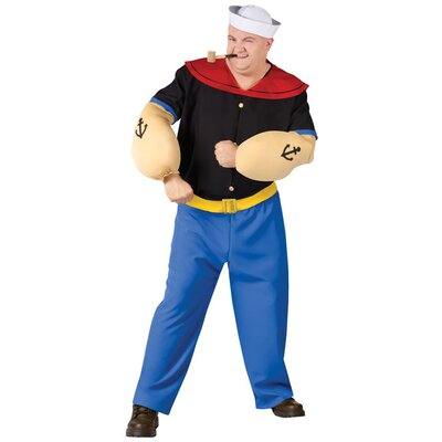 Fun World Popeye Plus Size Adult Costume